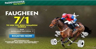 Get an enhanced 7/1 on Faugheen for the Irish Champion Hurdle