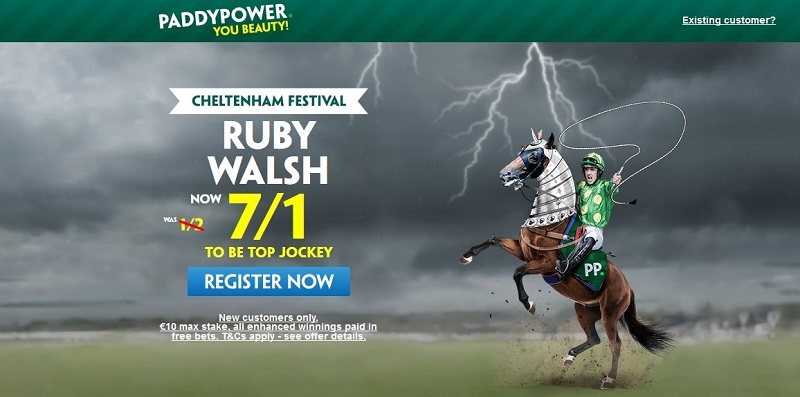 Ruby Walsh at Cheltenham: get an Enhanced Price of 7/1 in Cheltenham's Top Jockey market