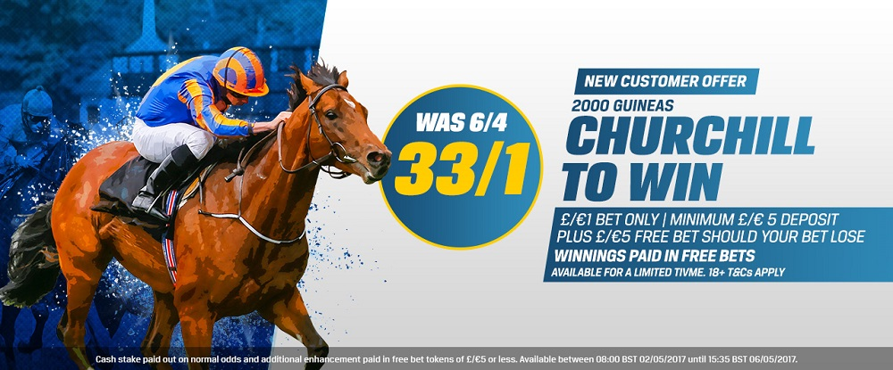 2000 Guineas: Get a Great 33/1 on the favourite with Coral